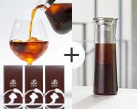 極上のアイスコーヒーを堪能する銘柄3点セット+コーヒージャグ 本体価格10281円 (税込11309円)