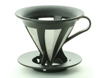 ハリオ カフェオールドリッパー(1〜4杯だて用)ブラック 本体価格 1600円 (税込1760円)